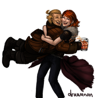 VARRIC HUG TIME by drawanon