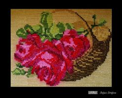 embroidered roses by MrsEfi