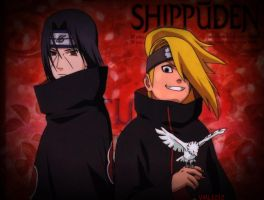 Itachi and Deidara wallpaper by VML1212