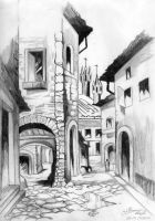 medieval town by Mirthol