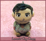 Sir Lancelot Clay Charm by Comsical