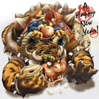 New Year Greeting for 2010 by MasaBowser