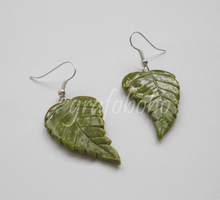 Leaf-Earrings #2 by grafoboho