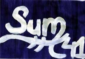Sum 41 - Painting by jess13795