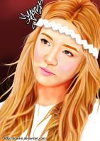 Hyoyeon Digital Painting 26 by BoAism