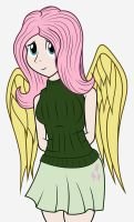 Fluttershy Human Color by ShadyHorseman