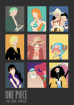 One Piece Minimalist Poster: The 9 Pirates (Ver.2) by MinimallyOnePiece