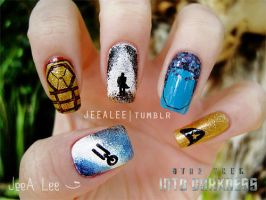 Star Trek Into Darkness Nails by jeealee