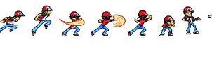 Pokemon Trainer Red Sprite. by SpriteNerd