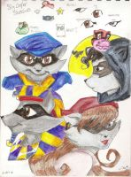 Sly Cooper Sketches by LoveThatPinkcupcake