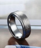 Celtic Cross tungsten ring by lee201206