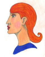 Fashion design lady in colour pencil by Poorartman