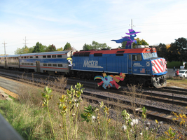 Ponies Running Alongside A Train by statoose