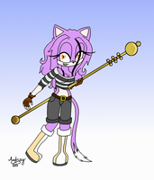 3rd Place Prize: Staff Weilder by icerose05