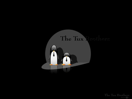 The Tux Brothers - wallpaper by ducatart