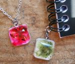 Fountain Pen Ink Resin Jewelry by OdinsBeadHall
