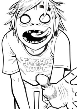 2D - Gorillaz by Tickle-Me-Monkey