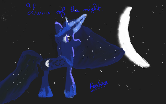 Luna princesse of the night by MoonMV