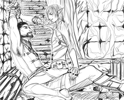 M!Hawke/Fenris - a little dispute by nightmarez0mbie