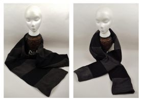 Black and Grey Scarf by Mermade4u
