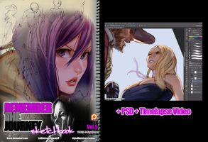 REMEMBERtheJOURNEY Sketchbook Vol.5+PSD+Video $5+ by kasai