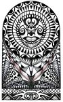 Polynesian halfsleeve tattoo design by thehoundofulster