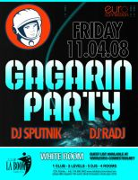 flyer gagarin party by sounddecor