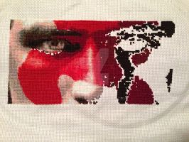 Peeta Cross Stitch - Day 7 by whatthej