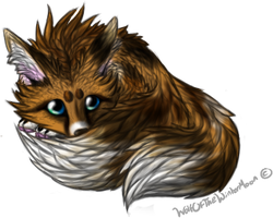 Painted Fennec Fox by WolfOfTheWinterMoon