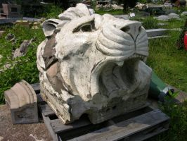 Lions Head Statue Stock 2 by FairieGoodMother
