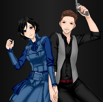 Booker and Elizabeth by ChronoKix