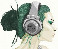 Sweet Cassina Headphones by Gryffin-Tattoo