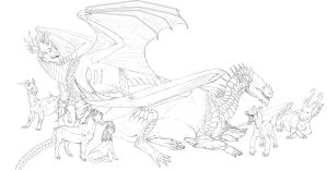 My characters by Teggy