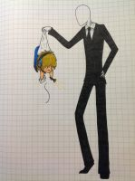 PewDiePie And Slenderman by FireHacked