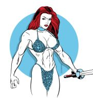Commission: Red Sonja by MichaelCrutchfield