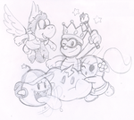 Commish: Super Lakitu and Friends by Nintendrawer