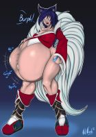 Full Bellied Ahri - Patreon by Ndnode