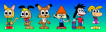 Bugsly, Rufus, Bubsy, Parappa, Max and Rayman by EnhancedStar