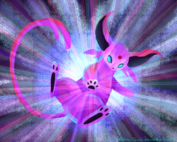 Espeon Used Dazzling Gleam! by Mokka-Quill