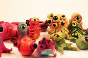 a cluster of specimens by oddhatter
