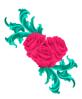 Ornamented rose painted by damean92