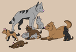 Wolf Pack breedables open by Innocent-Stupidity