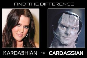 Kardashian vs Cardassian by larynx1982