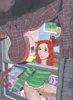 Maryjane loves spiderman cover by undeadtim