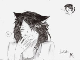 Ayako, the lazy cat-girl. by Tsumikaze