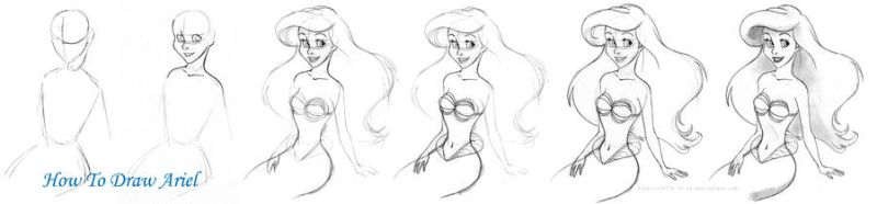 How to draw Ariel by Tella-in-SA