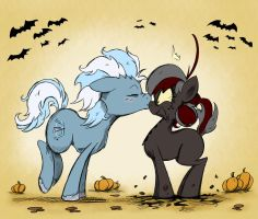 Halloween Commission - Painful Kiss by Pimander1446