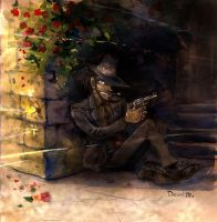 Jigen-in-roses by Dasha-KO