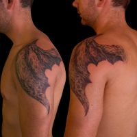 Demon Wing on One Shoulder by Origam-e