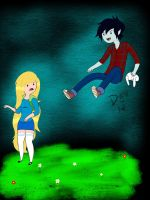 Fiona and Marshall Lee by DEATH-the-KlD